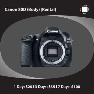 Canon 80D (Body) [Rental]