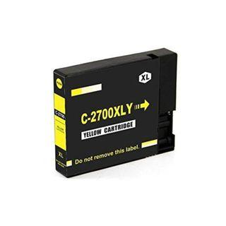 PGI-2700 XL (Yellow) Compatible For Canon Ink Cartridge Combo For IB4070 / MB5070 / MB5370 Printer