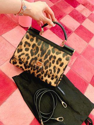 「專櫃購入」Dolce&Gobbana豹紋皮革經典包