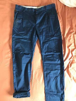 ZARA MAN 長褲藍色 size 31