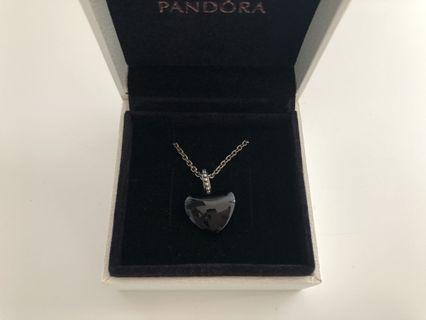 Black Heart Pandora Pendant