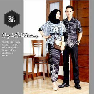 Batik set couple batwing