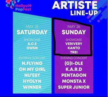 [URGENT WTS] hallyupopfest 2019 showcase ticket day 2