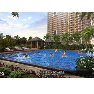 2BR at Infina Towers in Aurora Cubao Quezon City and MRT Ali Mall Gateway