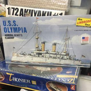 USA OLympia flagship 1/240 Lindberg revell trumpeter