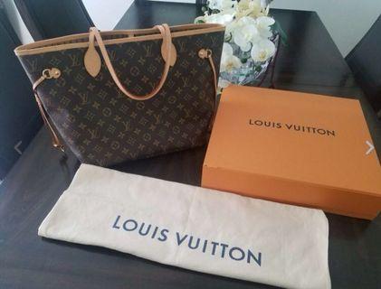 Louis Vuitton Neverfull MM Monogram Canvas (100% Authentic) Purse Shoulder Bag