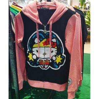Limited Edition Hello Kitty x DC Comic Wonder woman Hoodie Pink Black