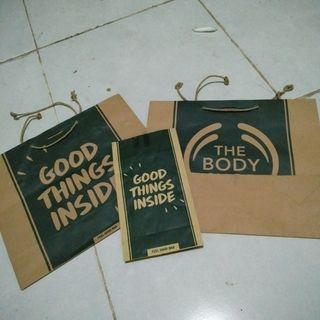 Paper bag the body shop