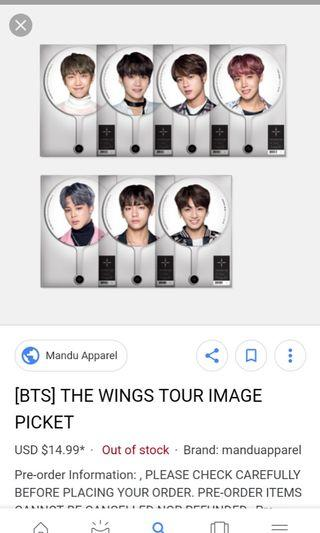 WTB/LF : BTS WINGS TOUR IMAGE PICKET