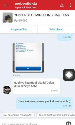 "BUKTI"" TRUSTED TRANSAKSI"