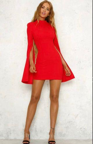RENTING Mossman sense of mystery dress red