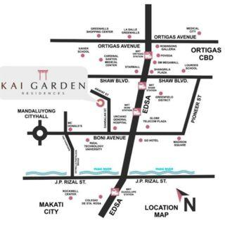 2BR at Kai Garden Residences in Mandaluyong near Boni MRT EDSA and Ortigas city