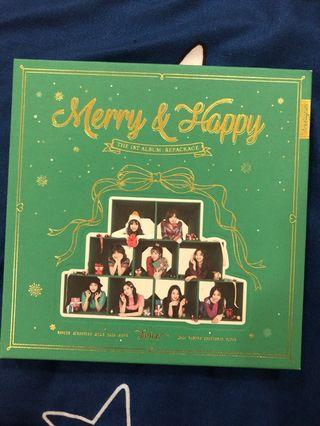TWICE MERRY AND HAPPY GREEN UNSEALED MINA CD