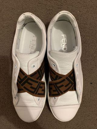 Fendi Roma Slip On White Shoes