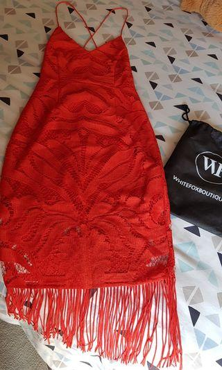 New Whitefox Khaleesi Cherry Dress Size S AUS
