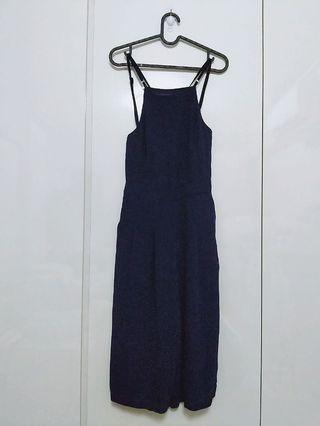 MDS crossback navy jumpsuit