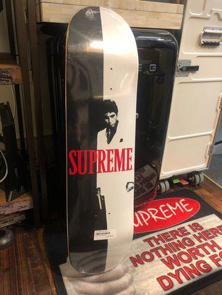 Supreme scarface split skateboard 滑板