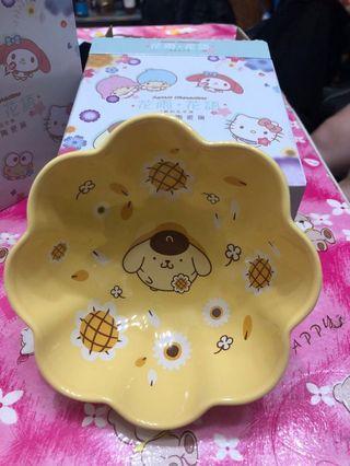 7-11 花形陶瓷碗 布丁狗 布甸狗 太陽花 5號 全新 有盒 不交換