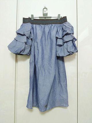 Urban Revivo Boho off-shoulder dress