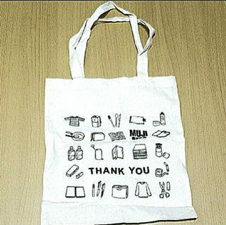 New💢MUJI💢Tote Bag 全新💢無印良品💢布袋#MTRtw #MTRssp #MTRmk #newbieMay19