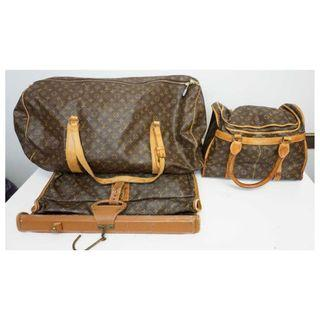 Louis Vuitton x 3 Pieces Vintage Luggage