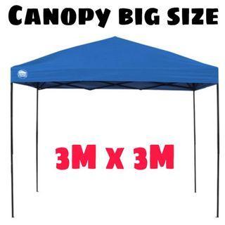Canopy 3x3m Khemah Kanopi Tent Outdoor Raya Makan Gerai