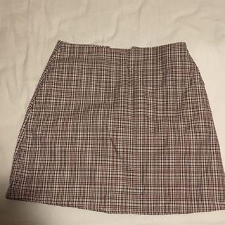 ulzzang plaid skirt
