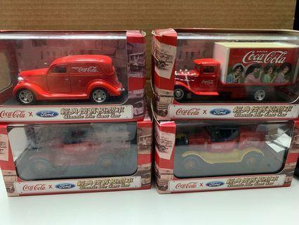可口可樂經典懷舊模型車 一套四款 CocaCola x Ford
