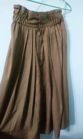 古著 咖啡色長裙 日本