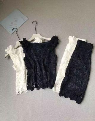 Lace 兩件套 背心 裙