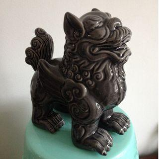 Sale! Guardian Lion Feng Shui Chinese Foo Dog Glazed Ceramic Statue Large