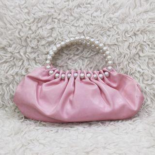 Vintage Pearl Baby Pink Bag