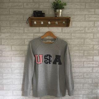 Crewneck/sweater USA by movement bukan uniqlo