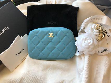 Chanel Tiffany blue coins bag 化妝袋