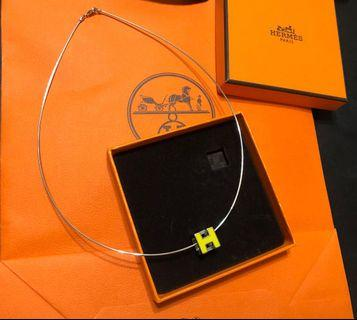 Hermes h cube necklace yellow