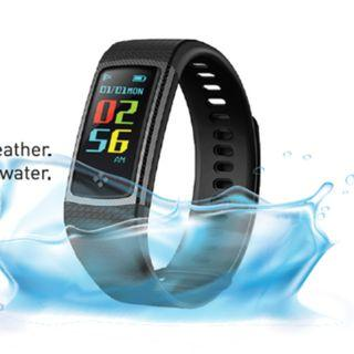 Curve Kaze Bluetooth Fitness Wristband. Call/SMS Notifications. 16GB Memory Sleep Monitoring, Blood Pressure Measurement and Oxygen Saturation Measurement