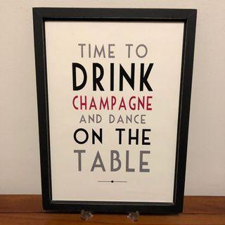 Wedding Table Deco Rustic Poster Frame