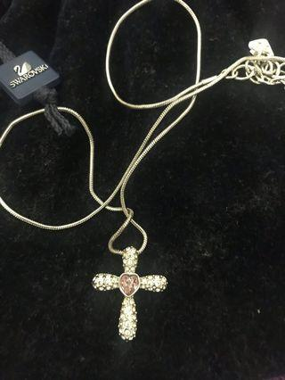 🚚 Swarovski Cross Amethyst Necklace