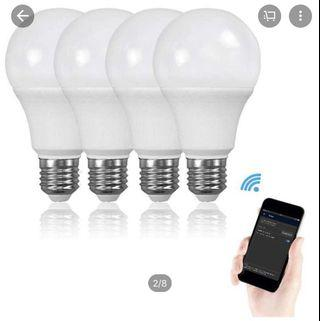 Smart Lamp with Dimmable Multicolor x 2
