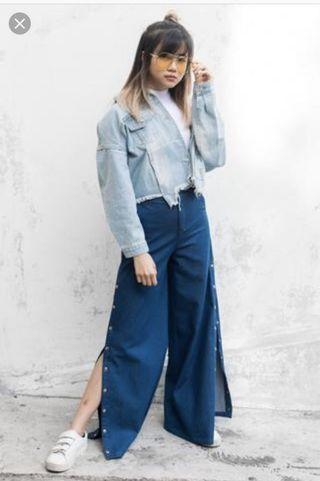 Twenty3 Jacqui Wide Leg Pants (Size : L)