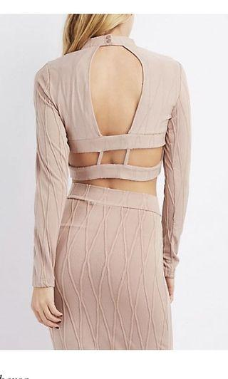 BN Bethany Backless Top in blush
