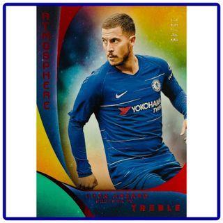 2018 Panini Treble Soccer Eden Hazard Atmosphere Red Parallel 15/49