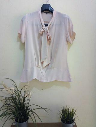 Blouse atasan the executive dusty pink