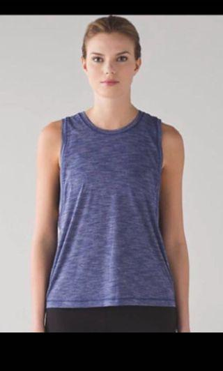 Authentic Lululemon Cardio Squad Tank II (Heathered Blue) Size 6