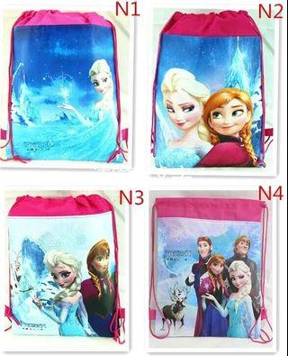 🚚 Frozen Princess Party Drawstring Bag Ideal for Goodie Birthday Favour