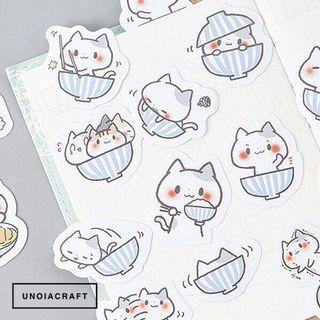 [INSTOCKS] striped cat sticker flakes