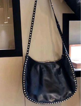 valentino large crossbody bag black rockstud