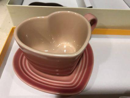 Le Creuset Heart mug and dish set