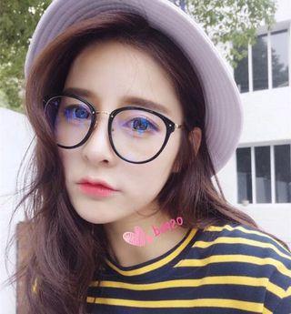 貓眼性感 橢圓文青 文藝平光眼鏡 眼鏡