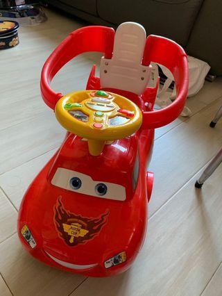 Disney 迪士尼 反斗車王 玩具車 手推車 bb車 搖搖椅 McQueen cars